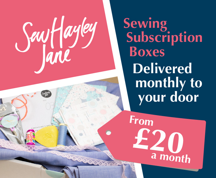 Sewing Subscription boxes delivered monthly to your door, from £20 a month.